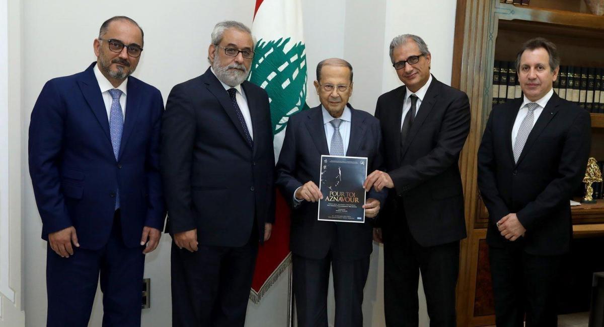 Lebanon's President Agrees to Honor Charles Aznavour