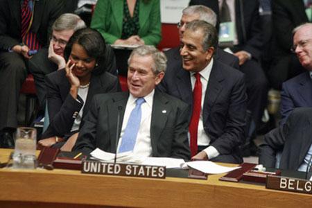 بوش خونخوار و خلیلزاد