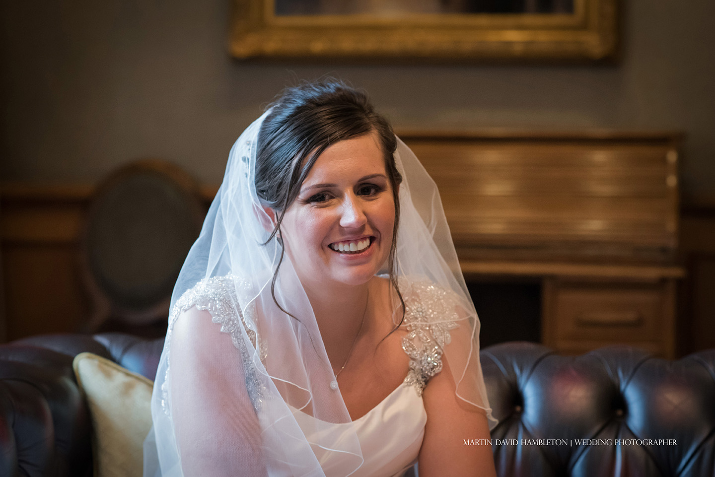 portrait of smiling bride