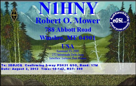 N1HNY eQSL Card