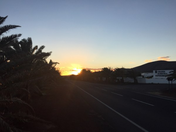 Sunset on drive to hotel after Guatisea activation