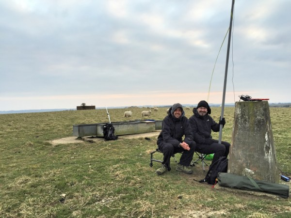 Me and Michael posing near the Inkpen trig point