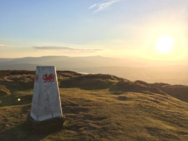 Sunset at Mynydd Troed