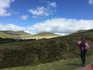 Pen Y Fan & Corn Du summits in distance