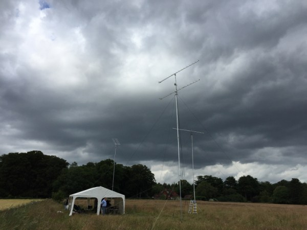 Dark clouds passing over during station breakdown!