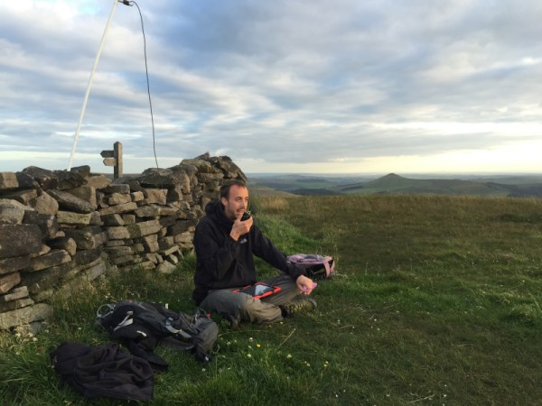 The author mid-QSO