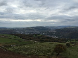 View from Summit onto Pontypridd