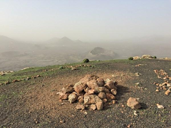 Summit cairn on Montaña Negra