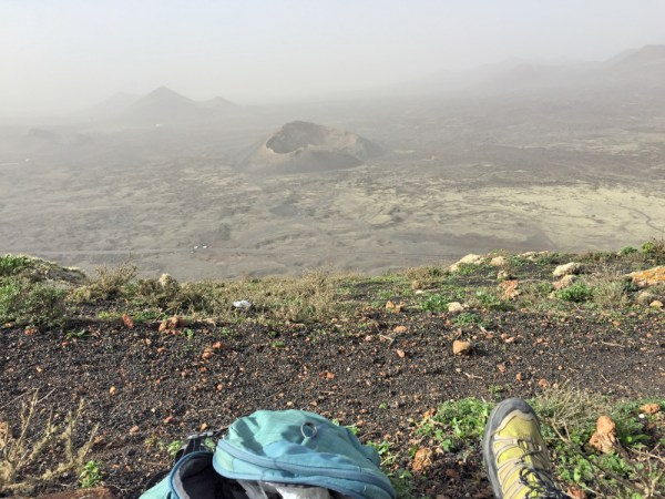 My operating spot looking onto a cinder cone