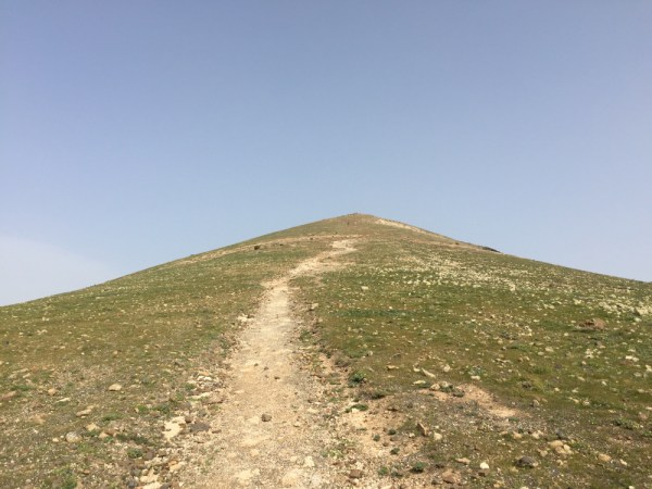 The well defined path up to Guardilama