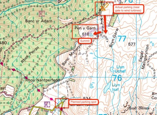 Route to Pen Y Garn