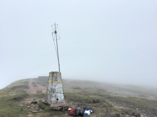 2m Moxon vertically polarised strapped to the trig point - notice the lack of visibility now!