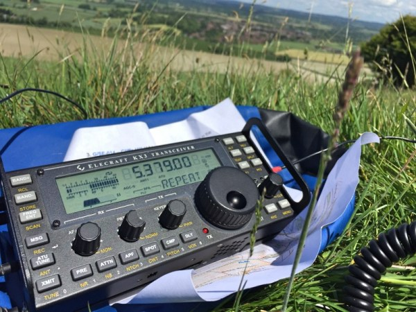 Elecraft KX3 on top of Cliffe Hill
