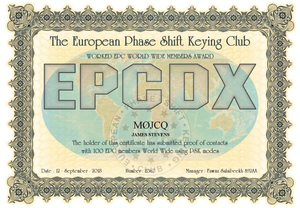 Worked EPC World Wide Members Award - 100 EPC Members from across the world