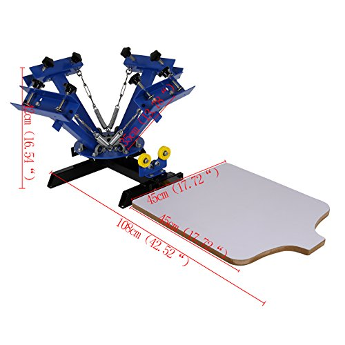 cba66000 ... list of the top recommended products, allow me to introduce to you the  Ridgeyard 4 Color 1 Station Silk Screen Printing Machine Screen Printing  Press.