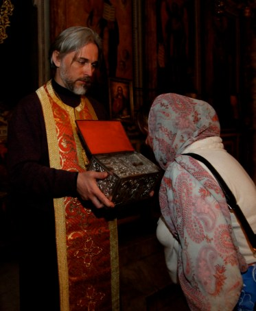 Ковчежек с частицами мощей великомученика