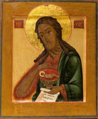 Св. Иоанн Предтеча. Икона в храме св. прав. Иоанна Кронштадтского в Гамбурге