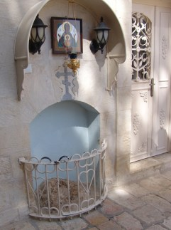 Камень, на котором стояла Пресвятая Дева Мария при вознесении Спасителя