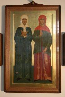 Икона св. Матроны Московской и св. Ксении Блаженной в нашем храме в Гамбурге