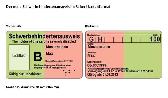 Schwerbehindertenausweis Eintragungen Hamburg  Stadt Hamburg
