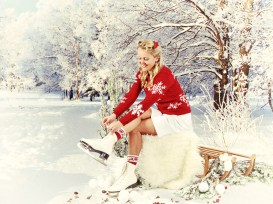 Winterspaß in den 40ern