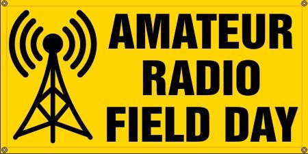 Amateur Radio Field Day Banner - Small : Ham Crazy!, Ham Radio Gifts and Fun Stuff Amateur Radio Operators!