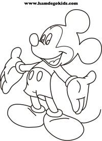 Mickey Mouse Bebe Para Colorear E Imprimir