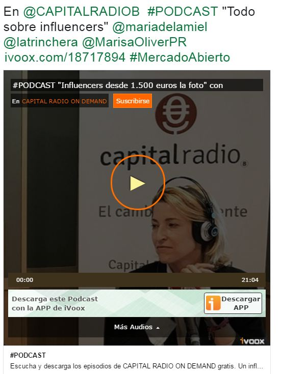 Entrevista en Capital Radio: http://www.ivoox.com/podcast-influencers-desde-1-500-euros-foto-con-audios-mp3_rf_18717894_1.html