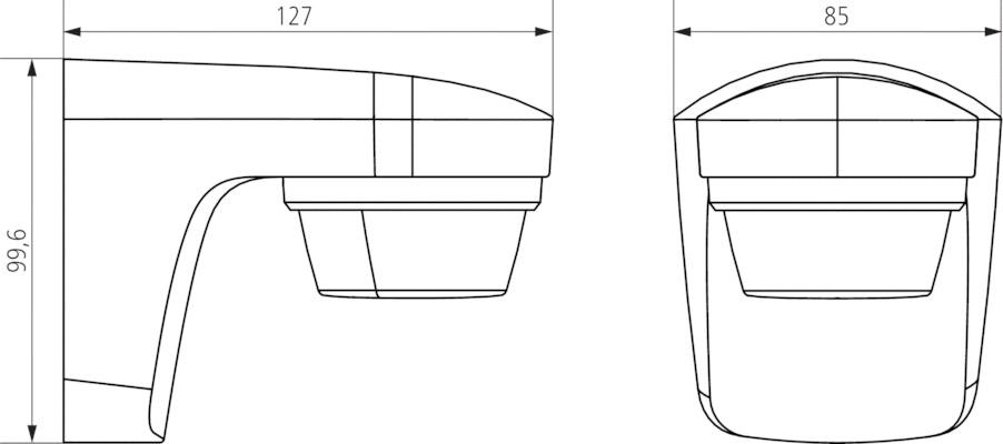 Theben theLuxa S180WH PIR Motion Detector 180deg Black