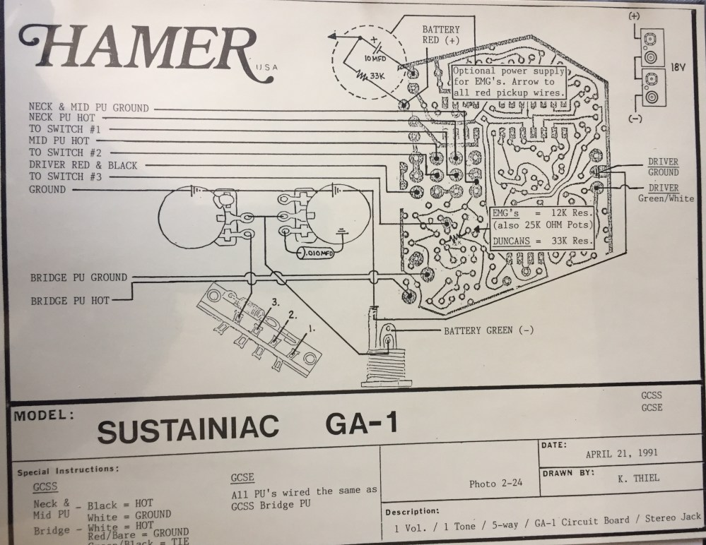 medium resolution of hamer wiring diagrams wiring diagram post hamer bass wiring diagram hamer wiring diagram