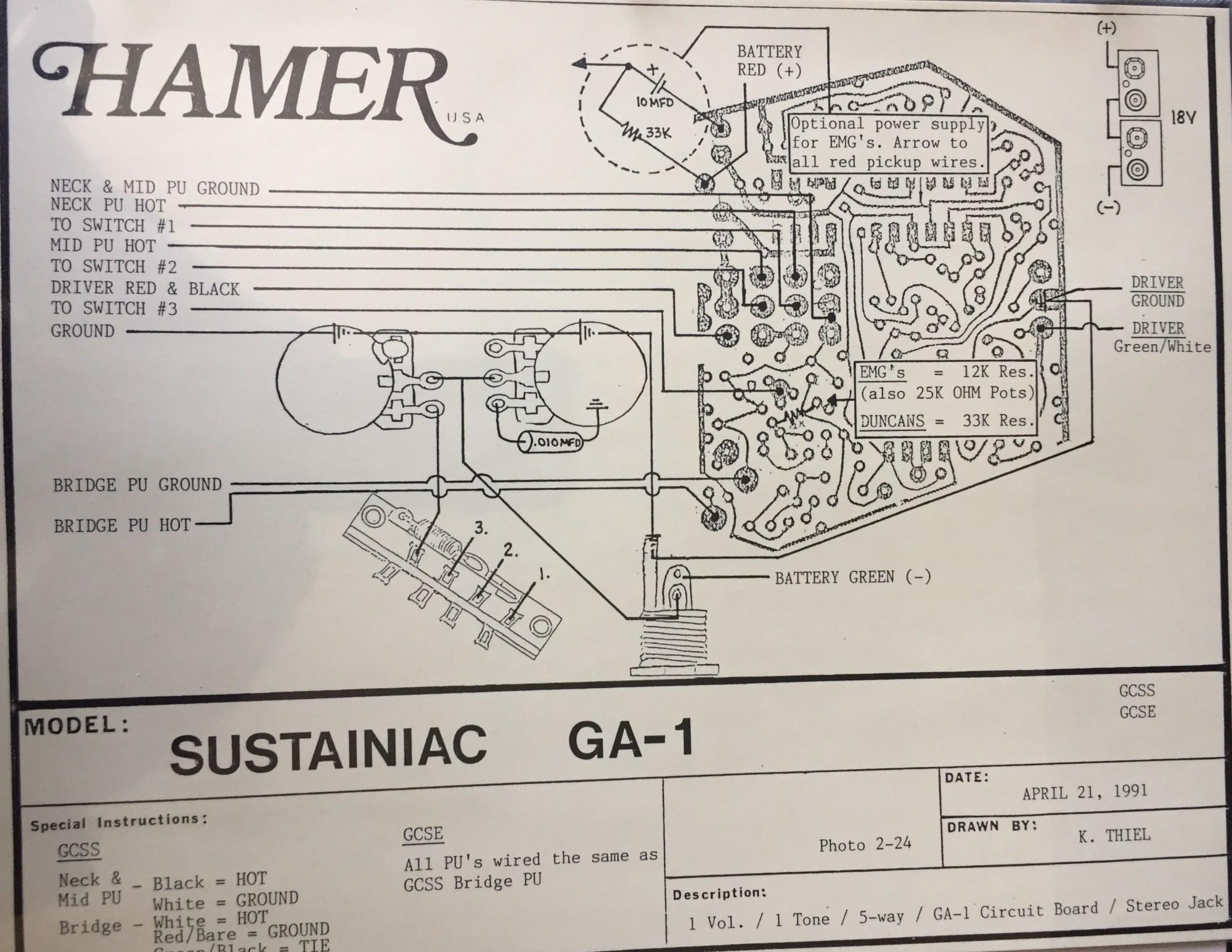 hight resolution of hamer wiring diagrams wiring diagram post hamer bass wiring diagram hamer wiring diagram