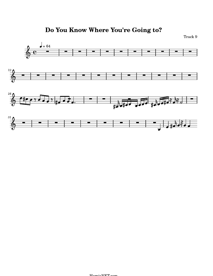 Do You Know Where You're Going to? Sheet Music - Do You Know Where You're Going to? Score • HamieNET.com
