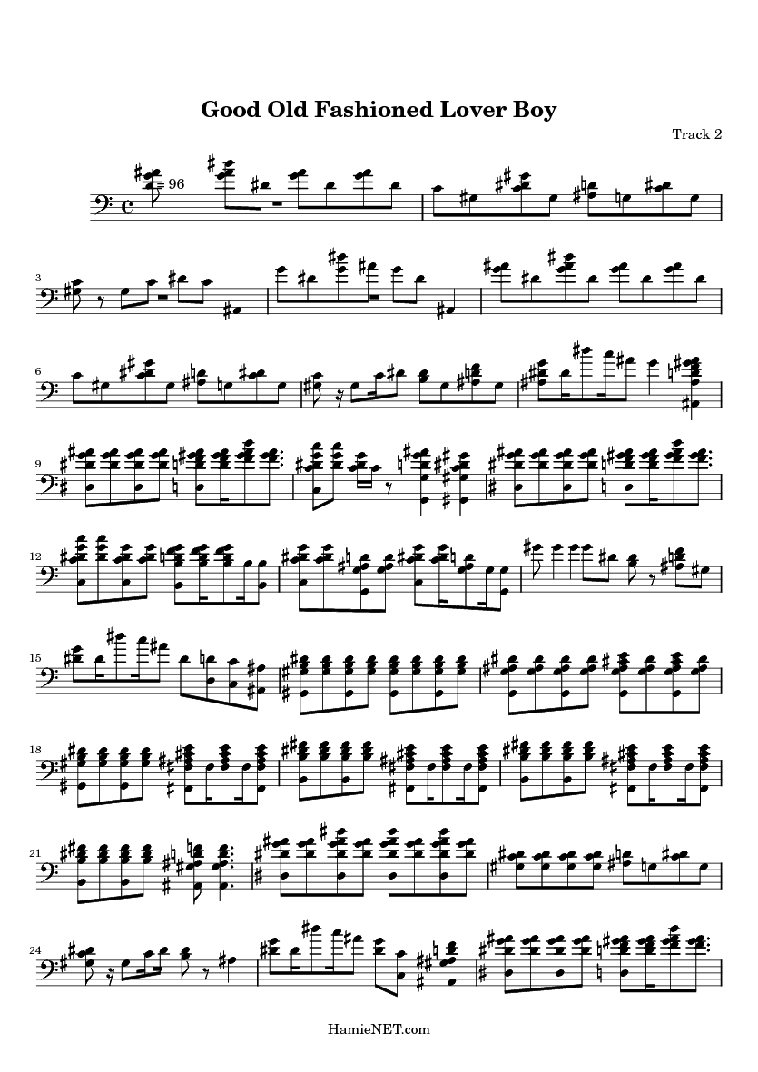 Good Old Fashioned Lover Boy Sheet Music - Good Old Fashioned Lover Boy Score • HamieNET.com