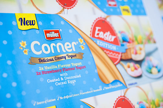 Gold for Flexo Print on Film – Surface Print Wide with the Müller Corner Easter Edition