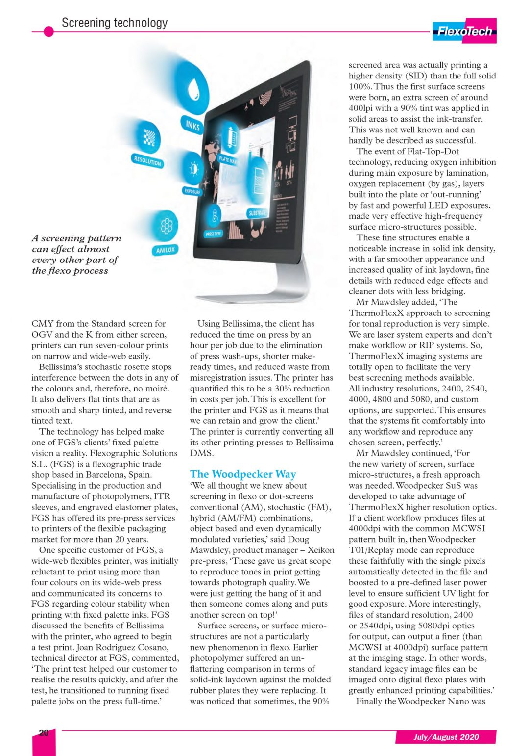 FlexoTech Sweet screens are made of this article Bellissima DMS High Definition HD prepress screening for flexo