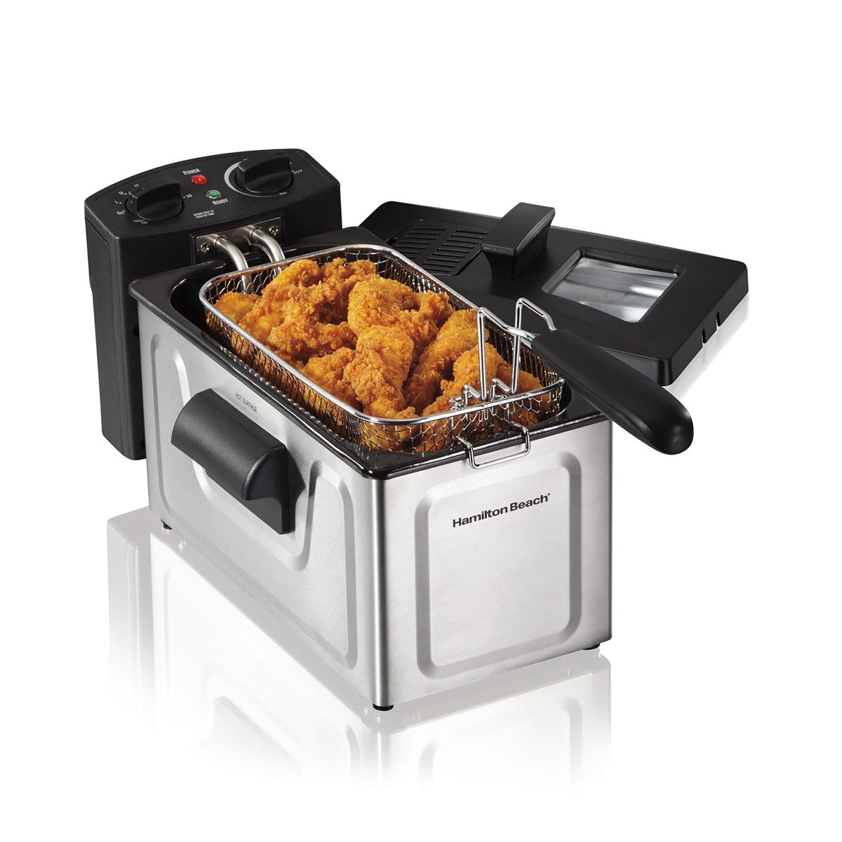 kitchen fryer delta addison faucet deep fryers hamiltonbeach com 35200