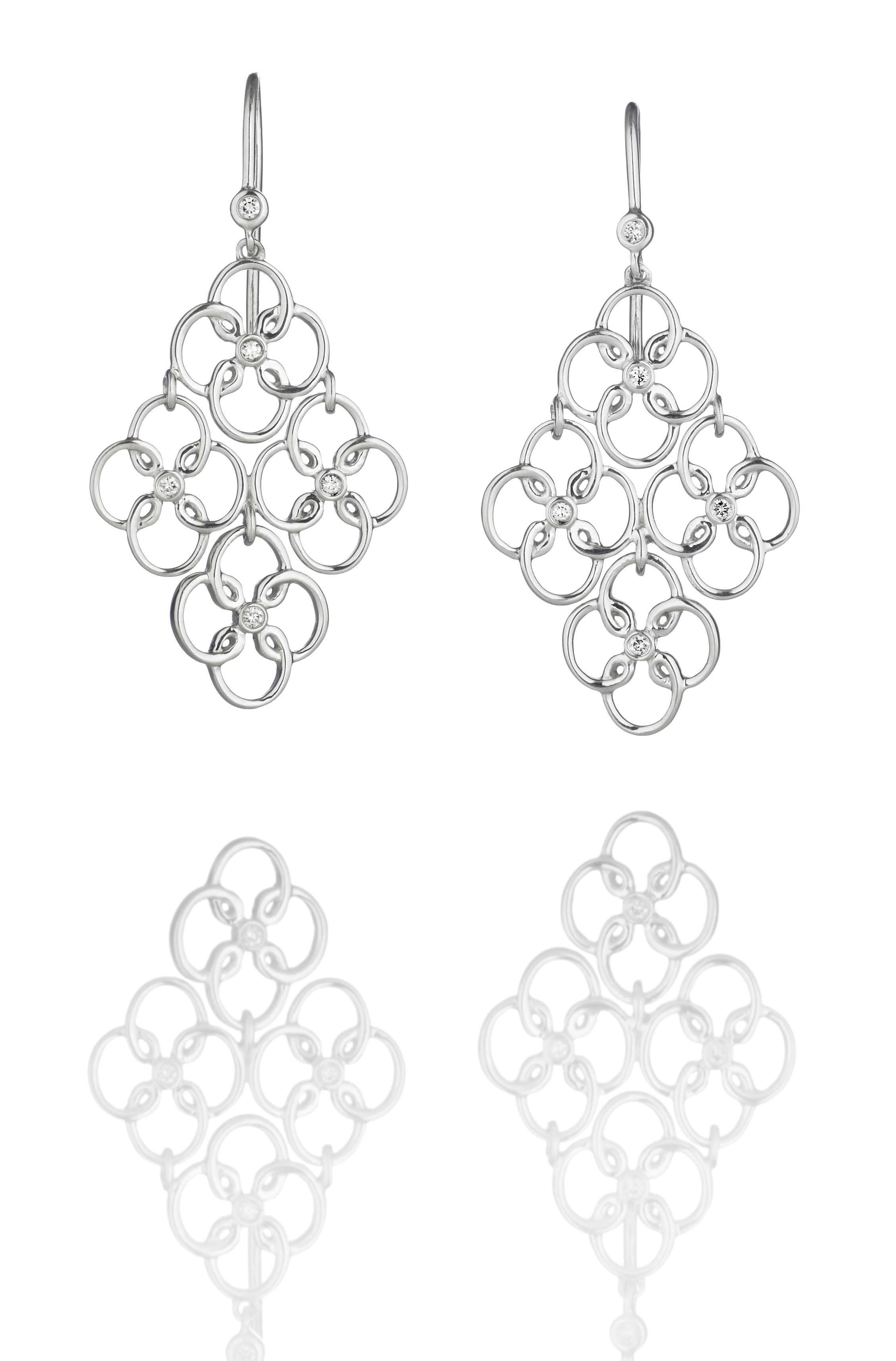 Silver Arabesque Earrings :: Hamilton Jewelers