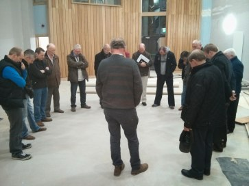 Officers praying for new building