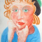 """Celia with Green Hat, from """"Moving Focus"""", 1985"""