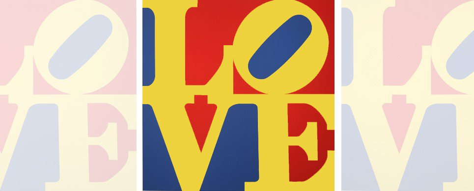 Robert Indiana, Love, Great Love, Screenrpint, Pop Art