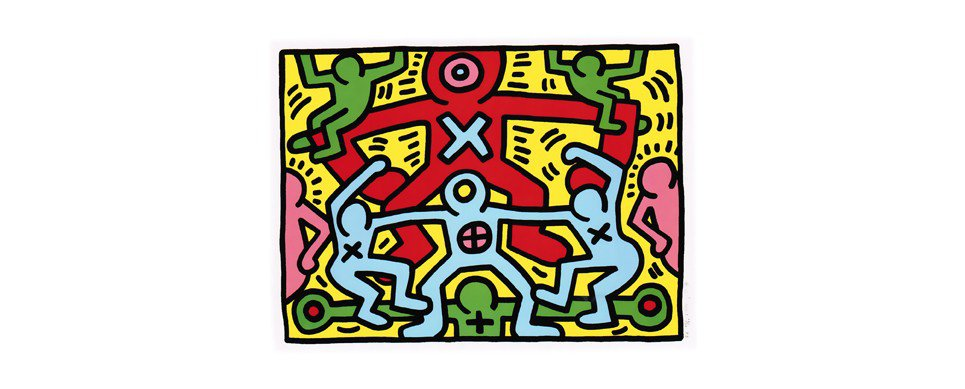 Keith Haring, Haring, Growing, Silkscreen, Pop Art, Urban, Graffiti, 1980's, New York City