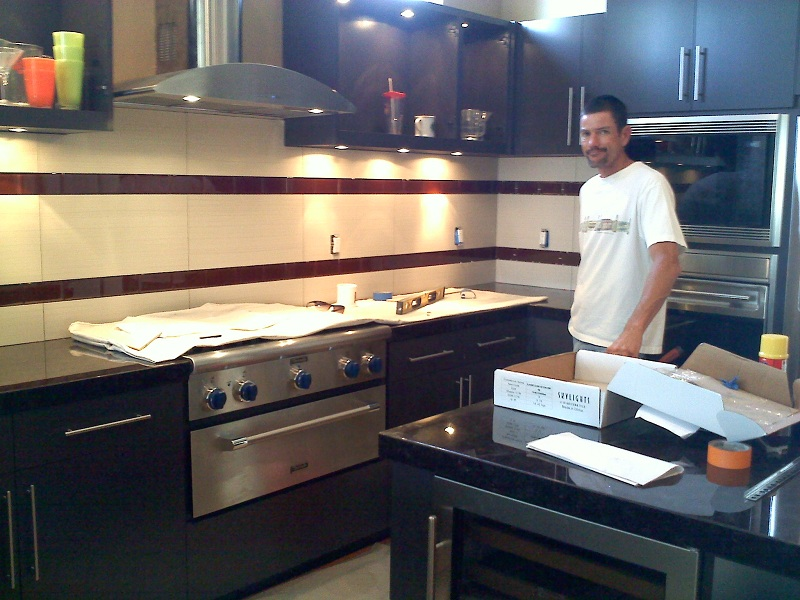 tile for backsplash in kitchen red canister set counter tops and back splash creations | hamilton ...