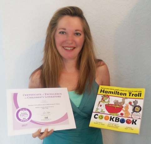 Hamilton Troll Children's Cookbook wins Purple Dragonfly Book Award