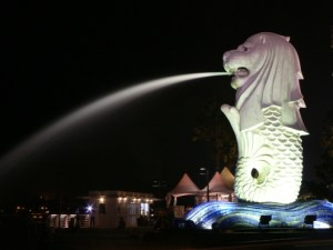 The merlion from Singapore