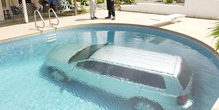 The prediction for the number of cars driven into a pool - that's eerily accurate, though.