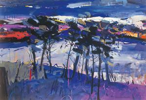 Painting of Winter, Loch Awe, Scotland. By Artist Hamish MacDonald
