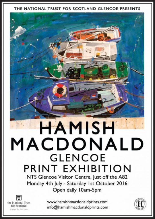 Hamish MacDonald Prints Exhibition coming to The National Trust for Scotland, Glencoe Visitor Centre, Scotland