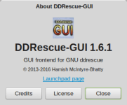 DDRescue-GUI on Linux Mint