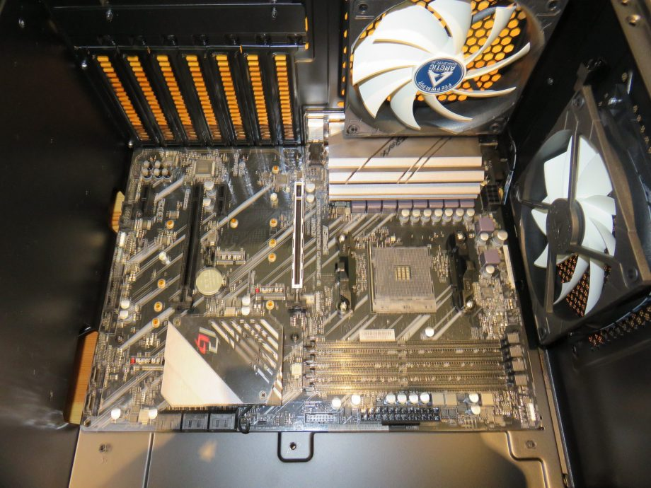 Installing the motherboard