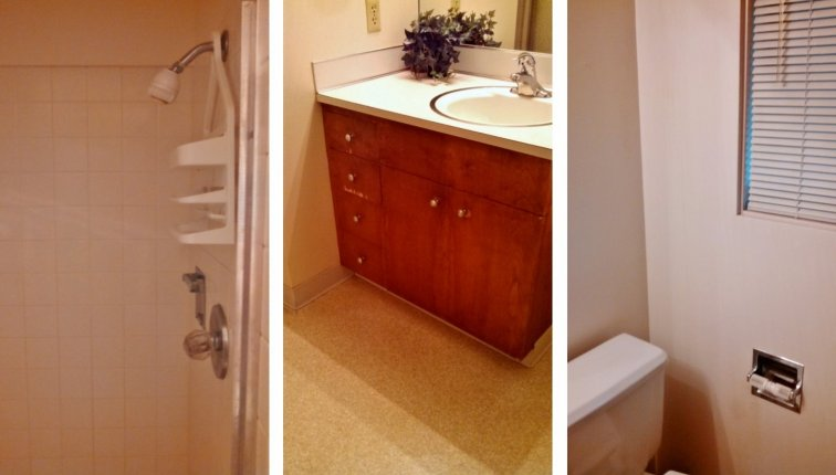Mid-century bathroom before updating